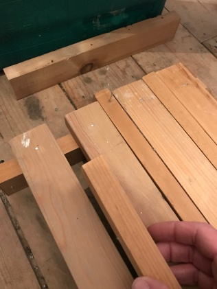 Using spare wood as a spacer